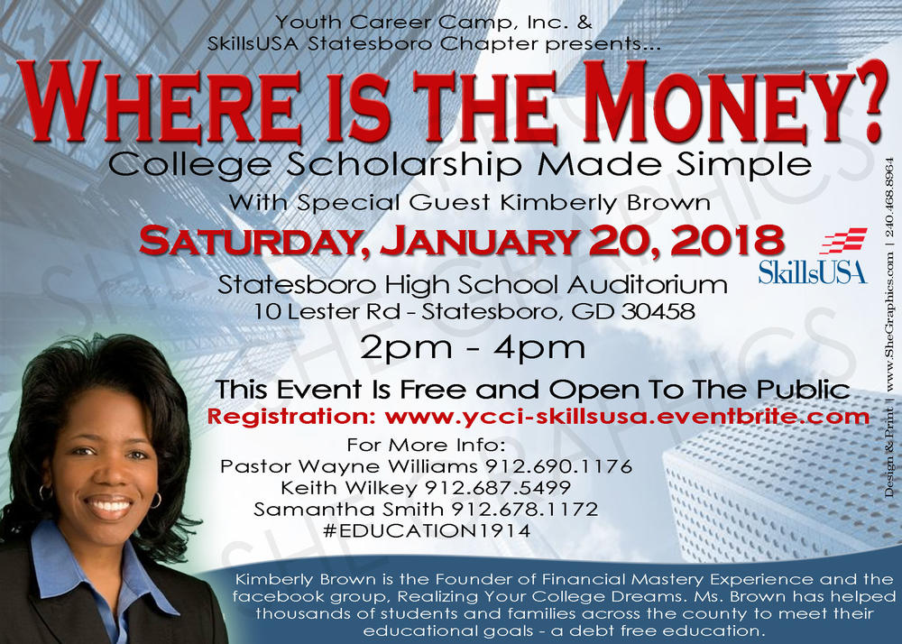 Where is the Money Workshop Flyer