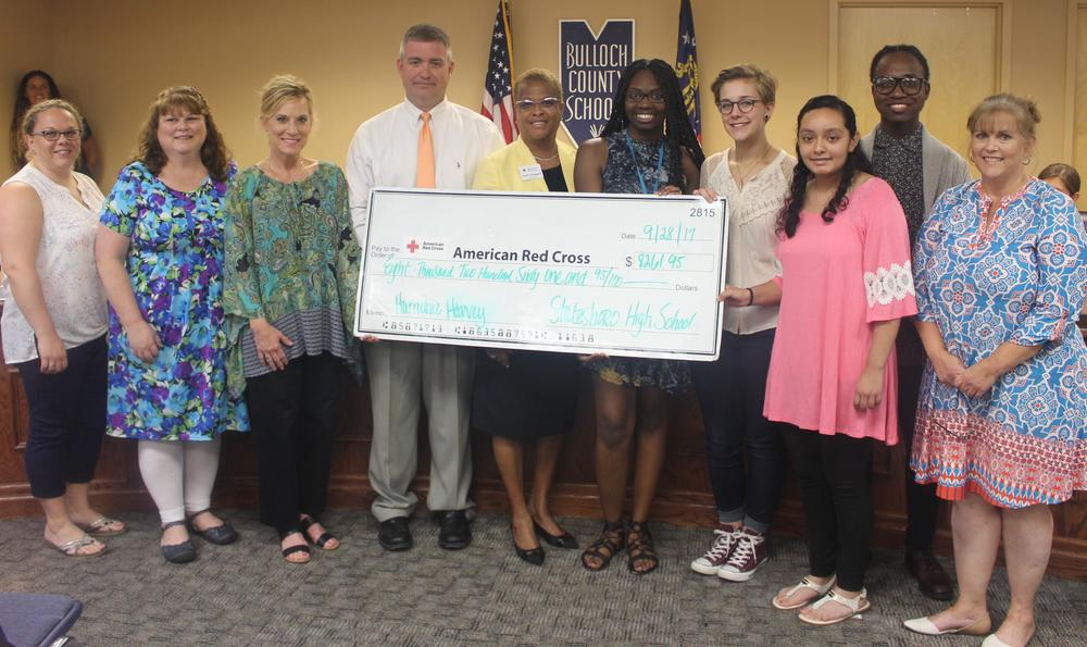 Statesboro High Donation to American Red Cross