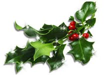 Picture of a holly garland