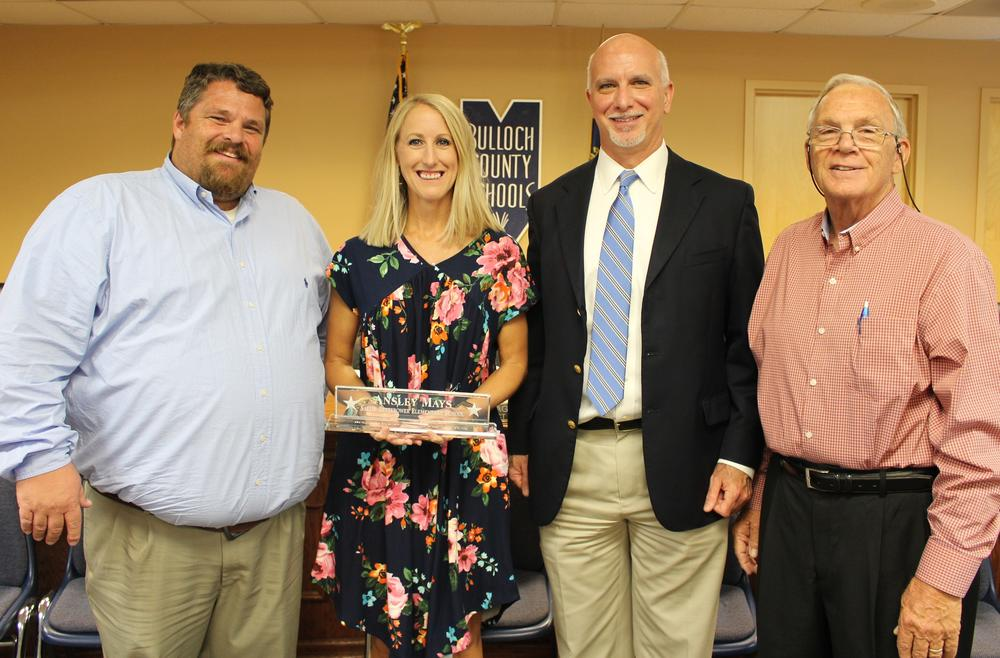 Ansley Mays 2019 Bulloch County Teacher of the Year