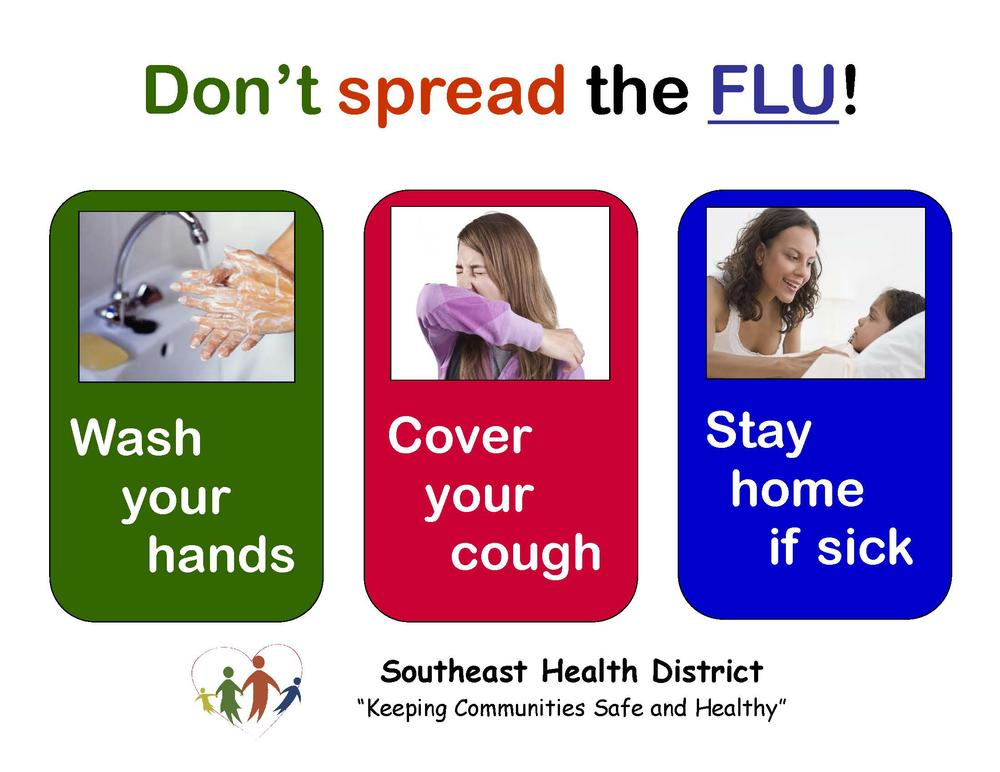 Don t Spread the Flu flyer