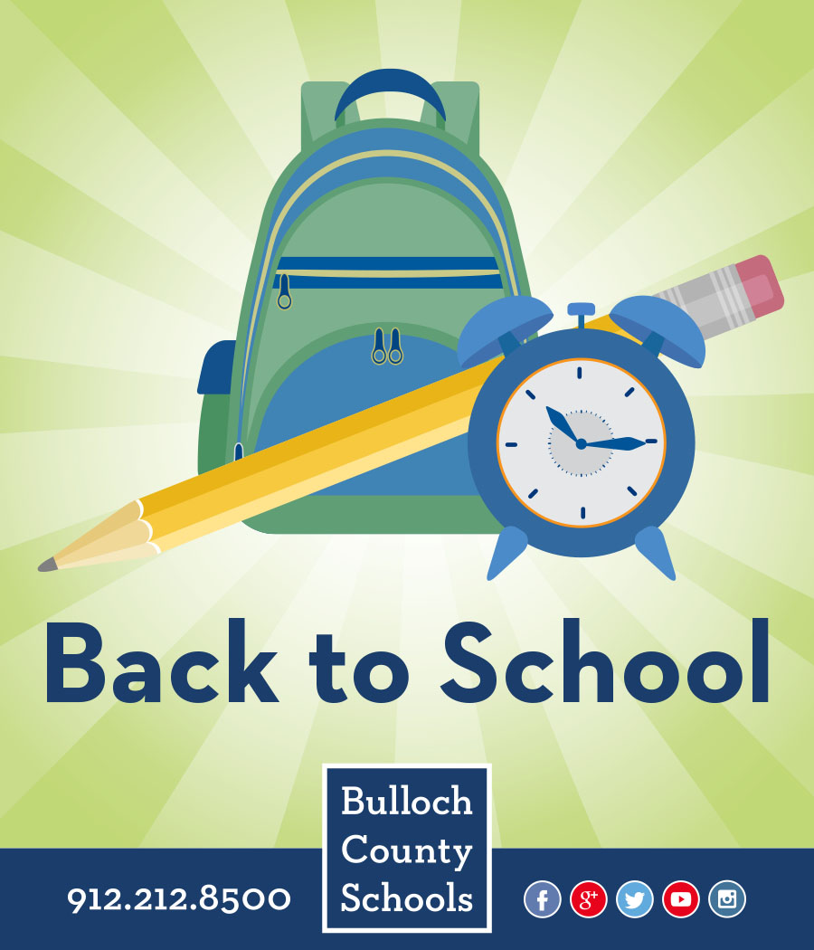 Back to School advertising graphic